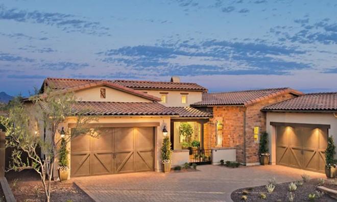 Southwestern luxury in this scottsdale community builder for Home builder magazine
