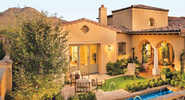 Dramatic style for a desert setting builder and for Home builder magazine