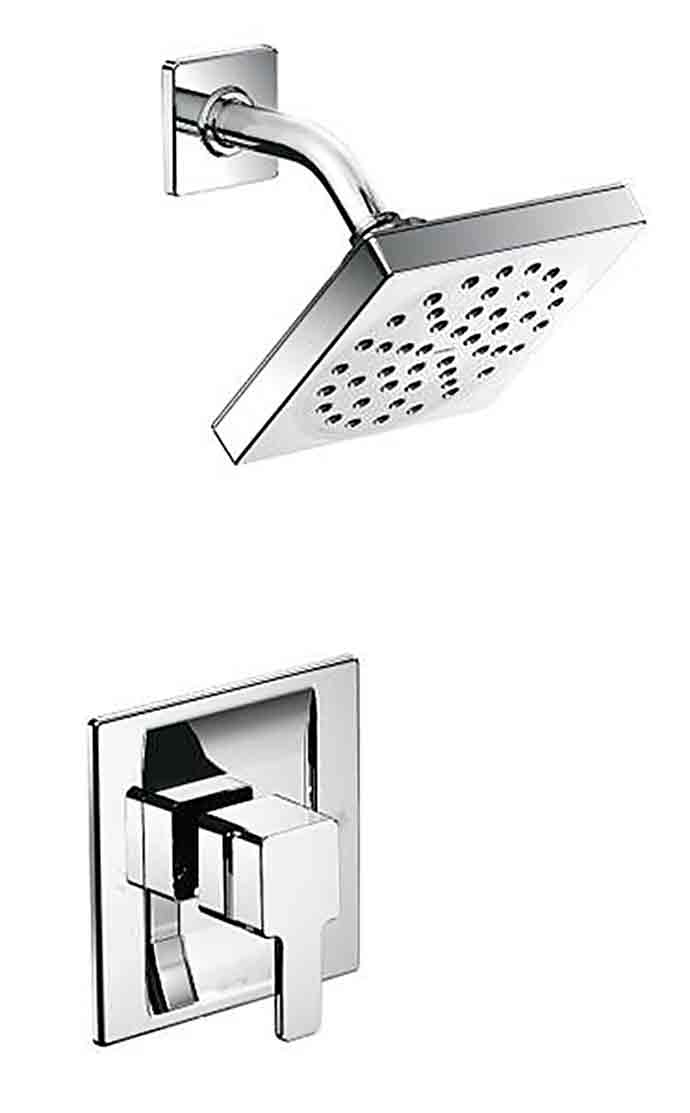 Moen With ultra–modern styling, the 90 Degree collection is a study in minimalism. Geometric forms, squared corners and straight lines create an urban focal point for today's contemporary baths. www.moen.com