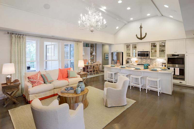 The Miller & Smith interior design team brought the vision of beach house living to new life through chic décor.