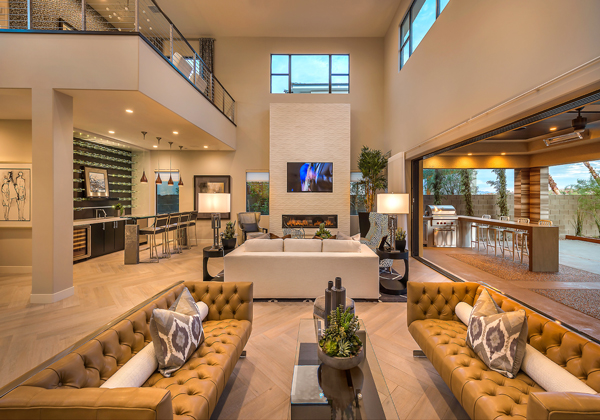 Inside the homes, gracious living and entertainment are elevated to new heights with foyers and great rooms filled with an abundance of volume and natural light.