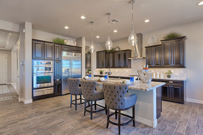 Encore has been ENERGY STAR® suffused with energy efficient lighting and appliances as well as water-efficient plumbing and fixtures to reduce greenhouse gases by some 4,500 lbs. per house per year.