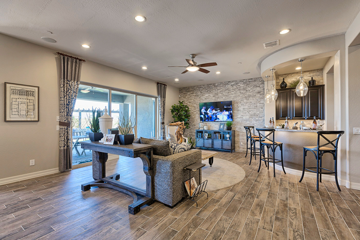 The floorplans in Encore were designed with an active lifestyle in mind for residents who love to open up their homes to guests and family—perfect for grandparents who invite their family over often.