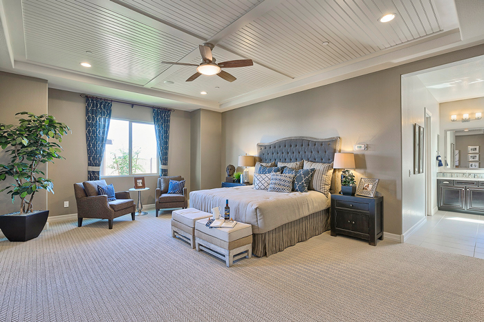 Owner's suite bedrooms are spacious and only steps away from the bathroom for streamlined living.