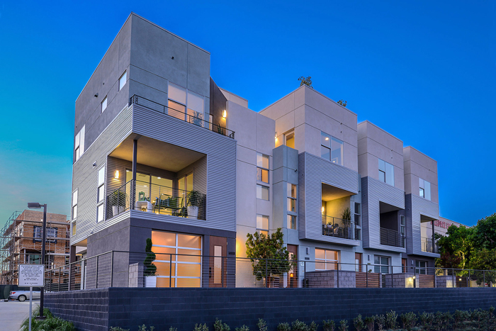 Level One is one of three multifamily communities by Withee Malcolm Architects that present a new townhome concept for an evolving market.