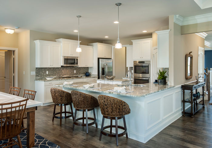 A major facet of the energy efficiency equation, the kitchens at Hawthorne boast ENERGY STAR® rated appliances, as well as the functionality of eat-in, open floorplan designs with the aesthetic appeal of granite or quartz countertops.
