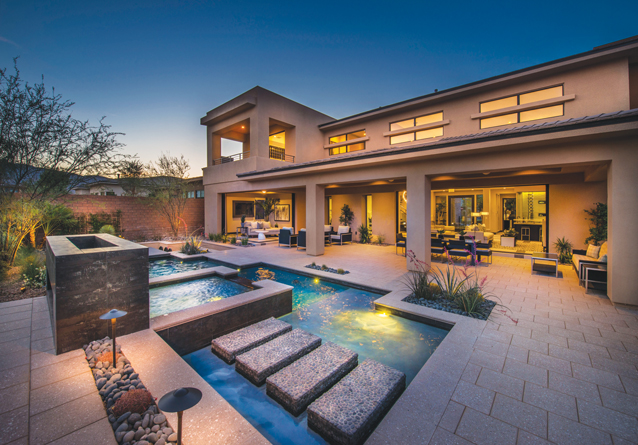 Design team Savannah Design Group of Escondido, Calif. fully embraced the glamour and luxury of nearby Las Vegas without losing touch of the natural tranquility provided by expansive desertscapes at The Ridges.