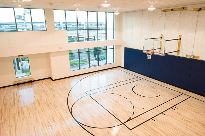 The complex is rich in amenities, including an indoor basketball court, an impressive, 3,000 square-foot fitness center, serene courtyard with outdoor fireplace, numerous decks, and more.