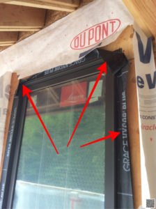 Improperly Installed Window Flashing