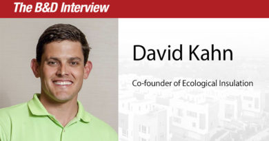 The B&D Interview – David England Kahn, Co-founder of Ecological Insulation