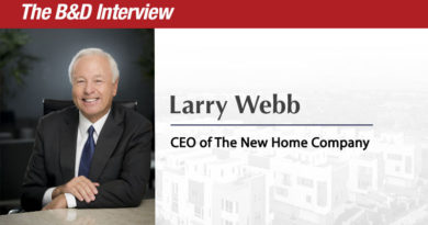 The B.D. Interview: Larry Webb, CEO of The New Home Company